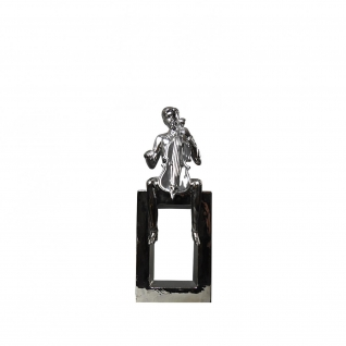 Cello Player Silver Sculpture