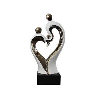 Family White and Silver Sculpture