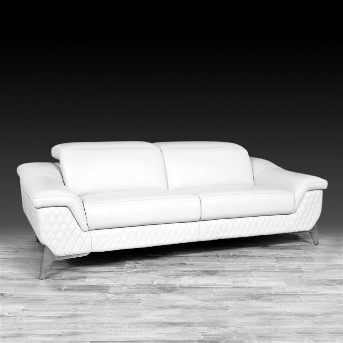 Silver White Modern Sofa Set | Fiona