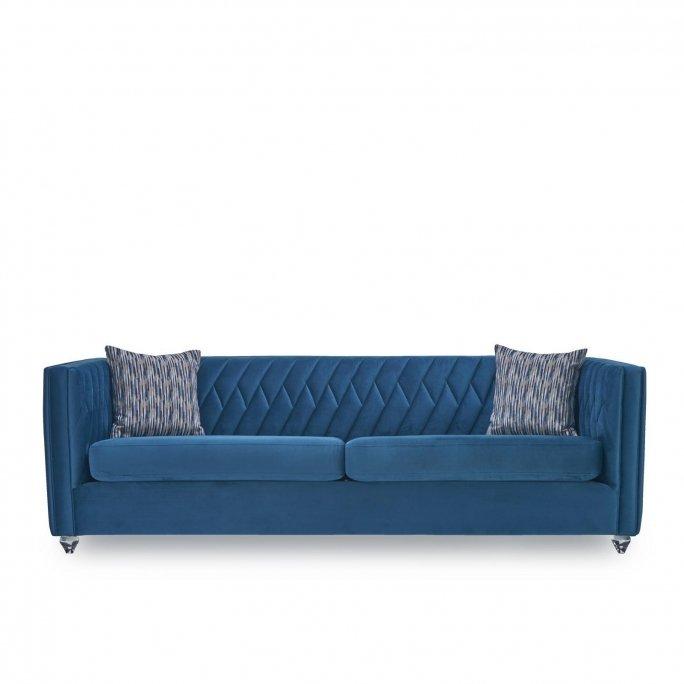 Perry Sofa Set   Dark Blue