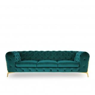 Regina Dark Green Sofa Set
