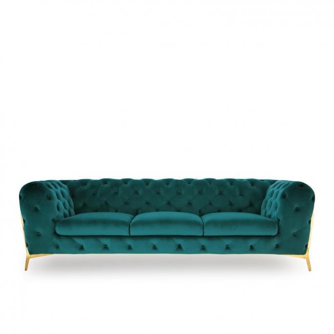 Regina Sofa Set | Dark Green