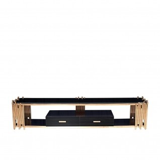 Mauris Rose Gold TV Stand