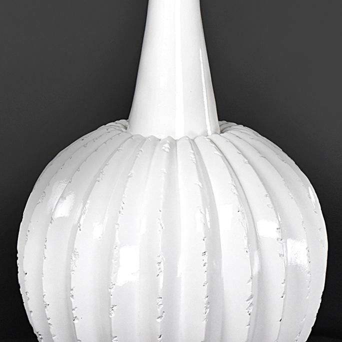 Harvest Large Modern White Vase